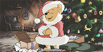Winnie Pooh Merry Christmas free GIF download