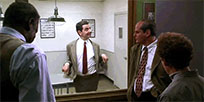 Two way mirror Mr Bean animated GIF