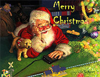 Merry Christmas Santa Greeting animated GIF