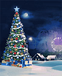 Christmas tree salutes animated GIF