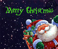 Merry Christmas Santa Claus animated GIF