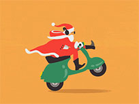 Scooter Santa animated GIF