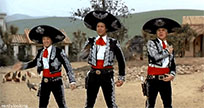 Three Amigos funny dance animated GIF