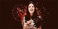 Adriana Lima Happy New Year animated GIF