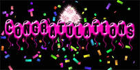 Congratulations fireworks animated GIF