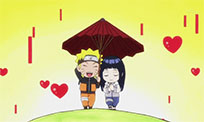 Romantic anime animated GIF