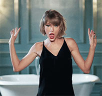 Taylor Swift dance in bathroom animated GIF