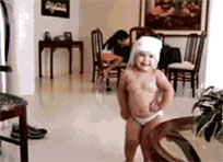 Happy dance gif baby animated GIF