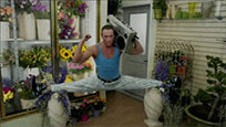 Van Damme leg splits animated GIF