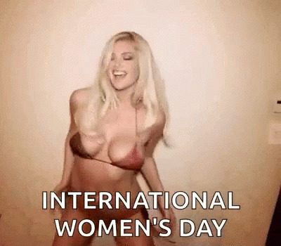 Happy Womens Day Kate Upton animated GIF