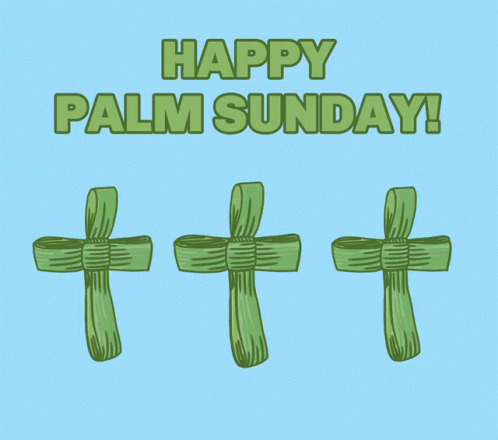 Palm Cross Happy Palm Sunday free GIF download