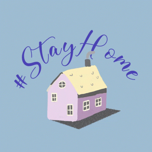 Stay Home House free GIF download