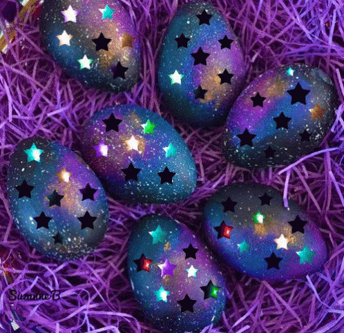 Happy Easter Stars free GIF download
