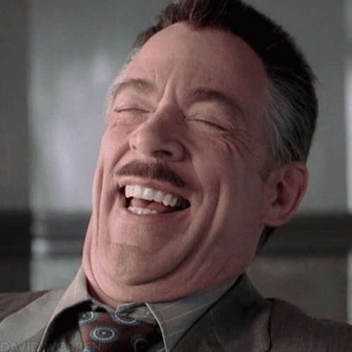 John Jonah Jameson Lol animated GIF