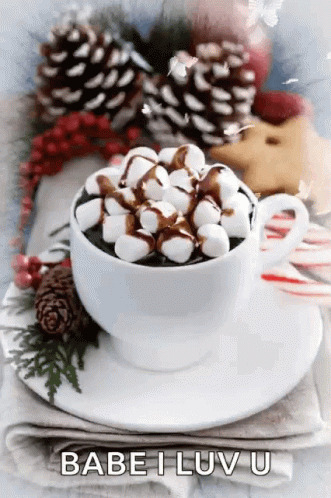 Good Morning National Cocoa Day free GIF download