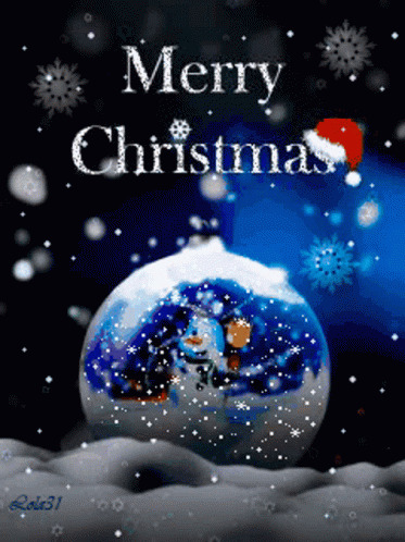 Snowball Merry Christmas free GIF download
