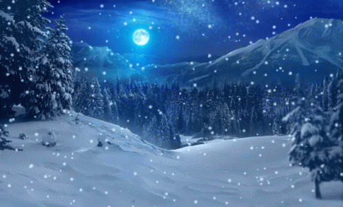 Winter Snow Snowfall free GIF download