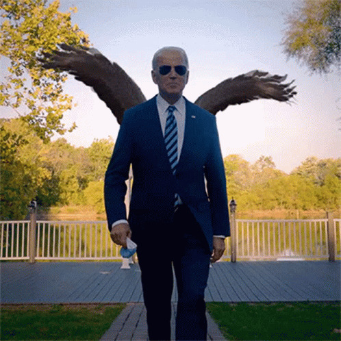 Walking With Eagle Joe Biden animated GIF