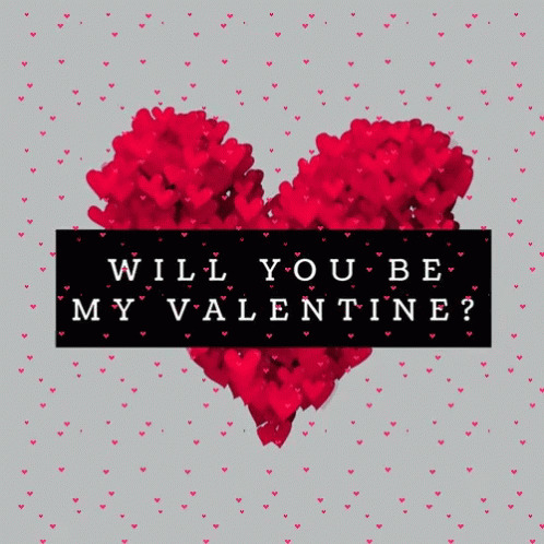 Will You Be My Valentine Hearts free GIF download
