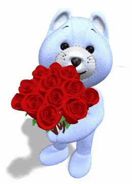 Roses Flowers Bears free GIF download