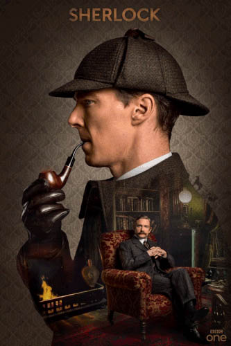 Sherlock Holmes smoking pipe free GIF download
