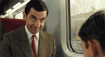 Mr. Bean Shakes his Head free GIF download