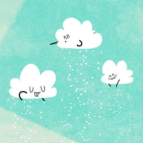 Clouds create snow animated GIF