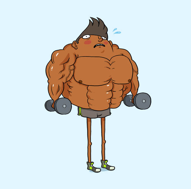 Fitness men animated GIF