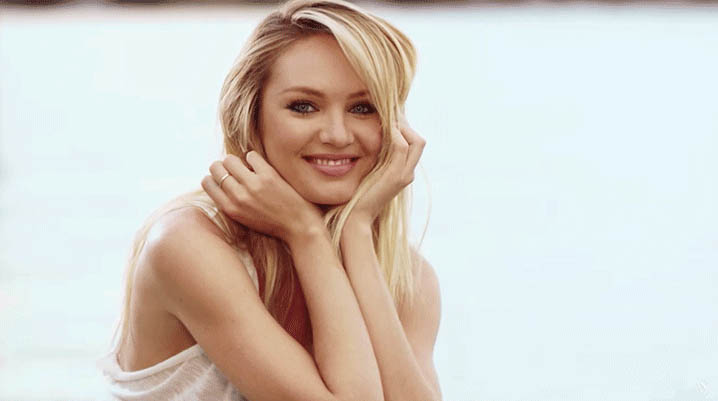 Candice Swanepoel laughing moving picture