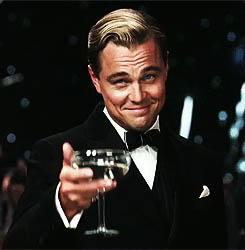 Leonardo DiCaprio congratulates you animated GIF