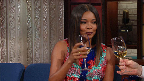 Gabrielle Union laughing animated GIF