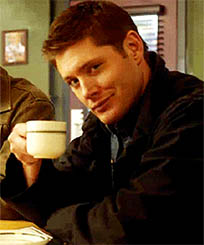 Jensen Ackles flirting animated GIF
