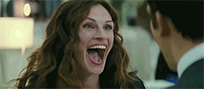 Julia Roberts laughing animated GIF