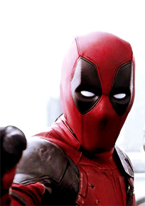 Deadpool shocked animated GIF