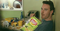 Michael Fassbender eating moving picture