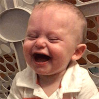 Laughing baby moving picture