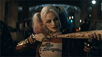 Harley Quinn bat animated GIF