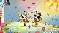 Mickey and Minni dancing moving picture