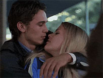 James Franco bite nose animated GIF