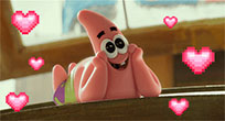 Patrick Star in love animated GIF