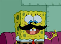 SpongeBob mustache animated GIF