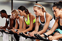 Nike spin class animated GIF
