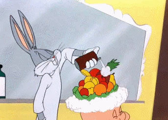 Bugs Bunny chef animated GIF