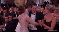 Emma Stone attempts hug animated GIF