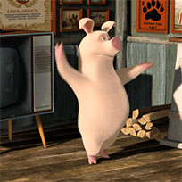 Dancing pig animated GIF