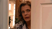 Lucille Bluth behind door animated GIF
