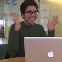 Amir clapping animated GIF