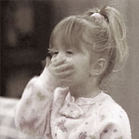 Baby blowing kisses animated GIF