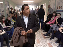 John Travolta in queue moving picture