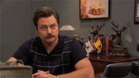 Ron Swanson reaction animated GIF